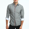 Мода Мужская рубашка с длинными рукавами Топы Хит цветные кнопки Мужские рубашки для мужчин Тонкая мужская рубашка Негабаритная XXXL рубашки liotti moda рубашка