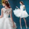 Короткие свадебные платья Белое платье Lace Bridal Dress Sexy Princess Brides Dress Engagement Plus Размер Vestido De Noiva Casamento коктейльное платье elisha bridal vestido eo1519