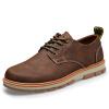ретро - стиль отдыха кожаную обувь, платформы, мужские ботинки