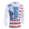 HEYKESON Men T-Shirt 2017 Men'S Fashion Sling High Collar T Shirt Long Sleeve Shirt Men Slim Men T-Shirt Tees&Tops XXL TRDS