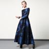 DF · RS С длинными рукавами с длинными рукавами осенью и зимой с длинными рукавами талии большой круглый шею платье женского темпе платье с длинными рукавами