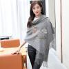 Shanghai Story (история SHANGHAI) осенью и зимой женщина толстый теплый шерстяной шарф платок красный пион аппликация пальто alix story alix story mp002xw13vur