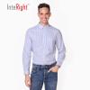 INTERIGHT мужская полосатая повседневная рубашка