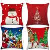 С Рождеством Христовым Хлопковое полотно 18 x 18 Декоративный чехол для подушки с подушкой для подушки дольче вита с рождеством христовым черный листовой чай 170 г
