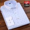 Business Gentleman Youth  Men Long Sleeve Shirt Spring Autumn  Silm Fit Fashion Floral  Printing fashion business men