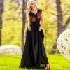 Summer Femme Floral Print Длинные платья 2017 Женская одежда Элегантная без рукавов Цветочная вышивка V шеи Maxi Dress