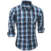 Brand 2017 Fashion Male Shirt Long-Sleeves Tops Spring New Classic Plaid Mens Dress Shirts Slim Men Shirt ASDD fashion new spring