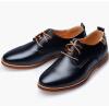 новые  мужская мода  кожа оксфорд обувь досугквартир бизнес туфли  (US Size 6-13, Brown, Black,Blue)