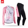 NUCKILY Женская сублимация печать велосипед одежда Custom дизайн Быстрая сухая Велоспорт Джерси костюм весной / осенью CJ128CK128