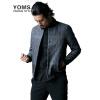 YOMS куртки мужские куртки с длинными рукавами печати прилив Корейский монах воротник молния куртки Хетер Грей XL 180 куртки