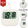 Kitchen Timer Digital LCD Cooking Timer Electronic Full Vision Swivel Hook Count-Down Up Clock Loud Alarm Magnetic Stand Timer novelty run around wake up n catch me digital alarm clock on wheels white 4 aaa