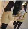 2017 Хлопчатобумажная одежда Женская короткая куртка Пальто Зимняя милая куртка Женская зимняя юбка Студенческие булочки