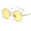 Peekaboo круговые солнцезащитные очки женщины ретро старинные золотые металлические рамки круглые солнцезащитные очки для мужчин