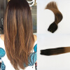 High Quailty Balayage Color #2 Fading to #6 2Pcs/Lot Brazilian Remy Hair In Human Hair Wefts Free Shipping 2 pcs lot russian copybook book in russia to improve writing skill free shipping