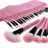 розовый Pro 32pcs сумку мягкой косметической дело начальника почты макияж кисти набор материалов pro 32 статуэтка мал повар profisti parastone 869379