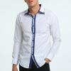 Brand 2017 Fashion Male Shirt Long-Sleeves Tops High Quality Simple Shirt Mens Dress Shirts Slim Men Shirt