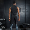Положительный леопард фитнес-костюм костюм мужчины спортзал спортивный костюм в обтяжку сжатие костюм движение жилет костюм бегать