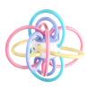 Yi-метр (Yimi) ребенка Прорезыватель Manhattan схватив мяч ребенка режутся зубы кольца Gutta развивающие игрушки Новорождённых.Детская игрушки 0-3-6-12 месяцев 0-1 лет дети прорезыватель manhattan toy winkel