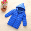 Girls Winter Light White Down Coat Kids Jacket Hooded Long Sections Children Clothes Receive Warm Parka Outerwear Snowsuit TZ148