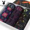 Playboy PLAYBOY Мужское нижнее белье Мужское плоское угловое нижнее белье Бамбуковое волокно Лоскутная сетка для нейлоновой печати Mingganggang брюки 3 загружают XXL (180/105)