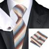 n-1008 Vogue мужчин шелковым галстуком набор голубой новинка галстук платок запонки установить связи для мужчин официальный свадебный бизнес оптом новинка