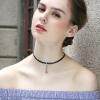 Lelady velvet Choker necklace Black chain necklaces short neck chain velvet collar