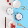 A Ting керамическая чаша 4 куска китайский ветер матовый глазурь домашних вареный рис бело - голубым шаром айфон 4 китайский в екатеринбурге