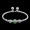 все цены на Luo Linglong s925 sterling silver translucent beads bracelet jewelry anti-allergic simple temperament personality fresh retro hand онлайн