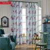 Американские классические роскошные оконные шторы для гостиной / спальни Позолоченные шторы для одежды на заказ