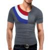 Male 2017 Brand Short Sleeve Hit Color Fashion T-Shirt O-Neck Slim Men T-Shirt Tops Fashion Mens Tee Shirt T Shirts 2XL мужская футболка men t shirts t o tshirts crossfit mens t shirts