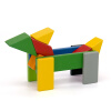 Просо MI-метровый кролик детских игрушек строительных блоки собраны игрушки магнитные строительные блоки просо mi просо большой черный водонепроницаемый коврик для мыши