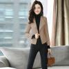 куртки md m куртки Форт Шэн 2017 новых осенью и зимой женщин короткий участок небольшой костюм куртки корейской версии случайные моды Тонкий сплошной цвет малых костюм zx1783016 красновато-коричневый M