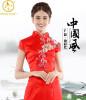 Королевский синий черный красный белый Китай Cheongsam свадебное платье Шелковый Qipao знаменитости-вдохновил Длинные китайские традиционные платья Женщины платье традиционные китайские штаны