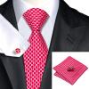 n-0569 Vogue мужчин шелковым галстуком красного новинка галстук платок запонки комплекс комплекс связи для мужчин официальный свадебный бизнес оптом новинка