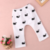 1pcs Baby Kids Girls Boys Cute Whale Printed 100% Cotton Pants Trousers Leggings new children outfits tracksuit clothing children hoodies kids pants kids sport suit baby clothes boys girls clothing set f2