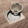HIDEEP ванные принадлежности ванной комнаты Зеленая бронза ванная дренаж с перекрытий hideep ванные принадлежности зеленая бронза фильтр для душа ванная напольные стоки