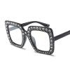 цена Негабаритные очки для очков из горного хрусталя для женщин, черные квадратные оправы для очков, женские роскошные большие моды онлайн в 2017 году