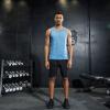 Положительный леопард мужской) движение жилет костюм фитнес-костюм движение бегать костюм костюм воздухопроницаемый скорость сухой костюм
