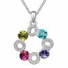 Австрия Кристалл Rhinestone Шарм подвеска ожерелье для женщин Высокое качество известных ювелирных изделий. .3124
