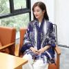 Shanghai Story (история SHANGHAI) г-жа теплой осенью и зимой шарфы шарф платок тотемные темно-зеленые листья