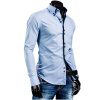 Men Shirt Luxury Brand 2017 Male Long Sleeve Shirts Casual Solid Multi-Button Hit Color Slim Fit Dress Shirts Mens Hawaiian XXL jeans men s blue slim fit high quality hole brand youth pop male fashion denim cotton casual trousers pant pencil pant gent life