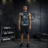 Положительный леопард фитнес-костюм костюм мужчины спортзал спортивный костюм в обтяжку сжатие костюм движение жилет костюм бегать костюм