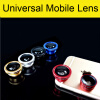 3 In 1 Universal Clip Camera Mobile Phone Lens Fish Eye + Macro + Wide Angle For iPhone 7 Samsung Galaxy S7 HTC Huawei All Phones 3 in 1 universal cellphone lens clip 0 67x wide macro lens 180 degrees fish eye lens golden