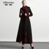 DF · RS Черное шерстяное пальто с длинным участком коленного сустава 2017 осень и зима новое Тонкое теплое шерстяное пальто пальто katerina bleska