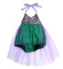 принцесса девочек русалочка бикини костюм плавательный костюм купальный костюм купальников нас костюм