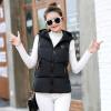 2017 осень и зима новые Жилет женский хлопок Женская куртка корейская версия Тонкий короткий капюшон ветров ветров жилет талии вол