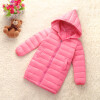 Girls Winter Light White Down Coat Kids Jacket Hooded Long Sections Children Clothes Receive Warm Parka Outerwear Snowsuit TZ148 1 400 jinair 777 200er hogan korea kim aircraft model