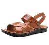 Мужчины летние кожаные сандалии вскользь Slingback пляжная обувь тапочка мулов 2015 летние девушки кожаные сандалии детская обувь детская обувь сандалии младенческой мальчиков сандалии 1 2 3 лет старых детей