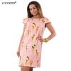 COCOEPPS Flower Print Женщины Модные платья Повседневные Плюс Размер Летние женские шифоновые платья O-Neck Платья повседневные платья