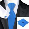 n-0850 Vogue мужчин шелковым галстуком набор голубой твердых галстук платок запонки установить связи для мужчин официальный свадебный бизнес оптом купить шифер оптом в липецке